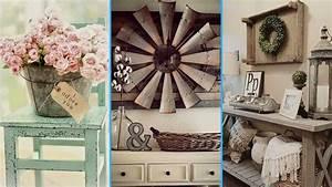 Chic Home Living : diy vintage rustic shabby chic style room decor ideas ~ Watch28wear.com Haus und Dekorationen