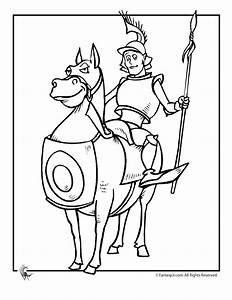 Knight & Armored Horse Coloring Page | Medieval Madness ...