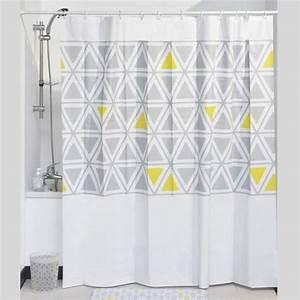 Rideau Forme Geometrique : rideau de douche douche baignoire eminza ~ Melissatoandfro.com Idées de Décoration