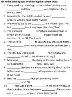 homophones language english gradelevel elementary