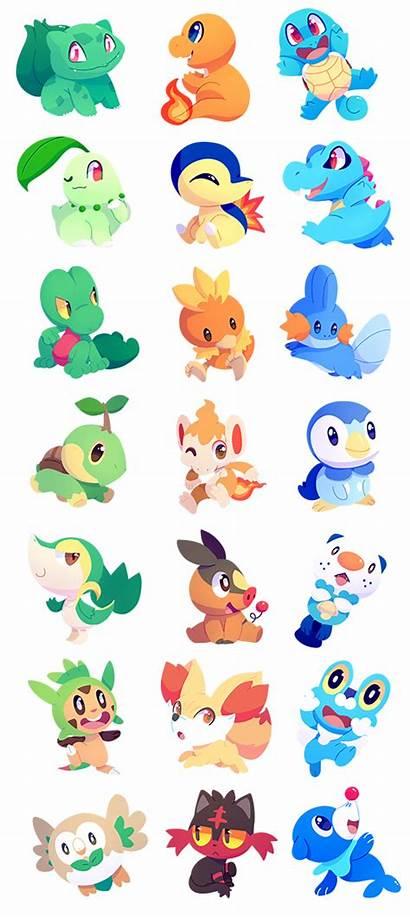 Pokemon Starters Chocochaofun Deviantart Chat