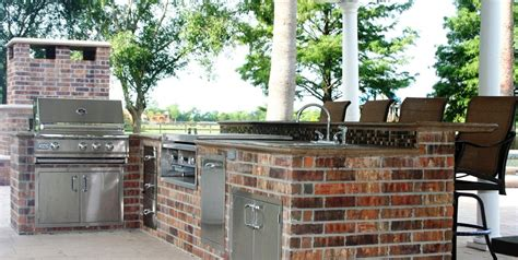Brick Barbeque Veneer-landscaping Network