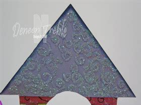path  paper castle card template instructions