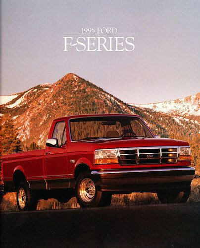 old car owners manuals 1996 ford f series windshield wipe control 1995 ford f series pickup truck sales brochure catalog f 150 f150 ebay