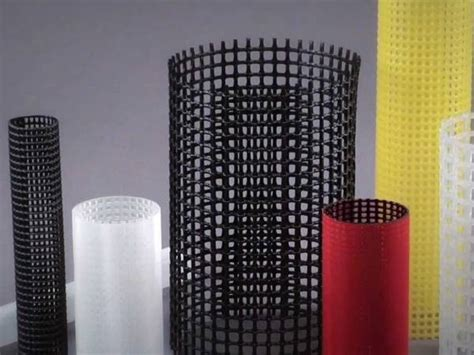 plastic filter mesh tube tubes netting different colors sizes support yellow corrosion protection there