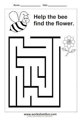 preschool maze preschool worksheets  kindergarten