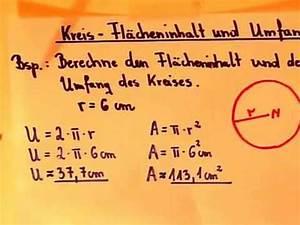 Fläche Kreis Berechnen : kreis berechnung von fl che und umfang youtube ~ Themetempest.com Abrechnung