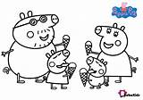 Peppa Pig Coloring Pages Ice Cream Bubakids Printable sketch template