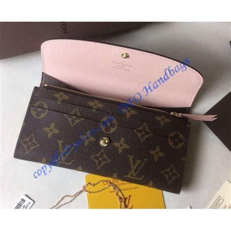 louis vuitton monogram canvas emilie wallet  light pink