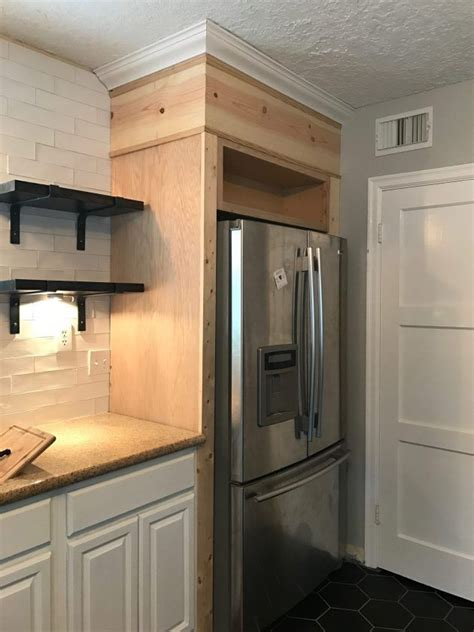 weve   fridge surrounded   diy kitchen