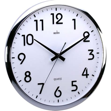 vintage alarm silent sweeping white wall clock 32cm