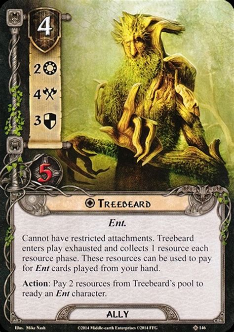 Lotr Lcg Deck Building by Treebeard Master Of Lore