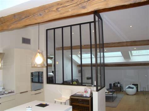 verriere entre cuisine et salon verriere d angle type loft entre cuisine et salon