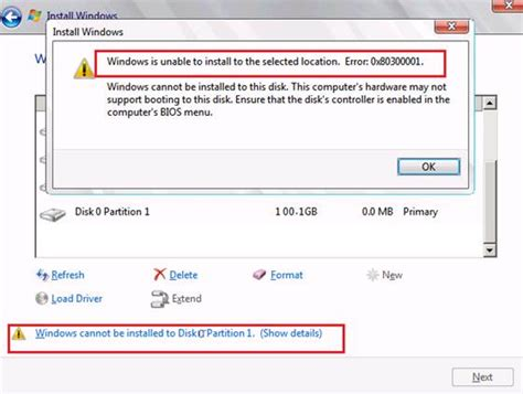 how to resolve the quot windows cannot be installed to disk partition quot error when installing