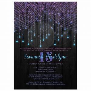 quinceanera invitation purple aqua pink black twinkle With party city purple wedding invitations
