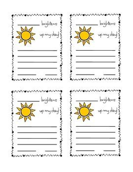 positive praise cards  students   kindergarten