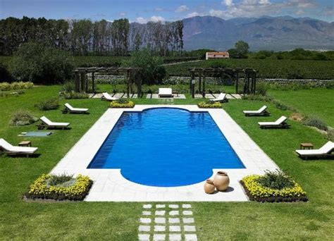 swimming pool and garden picture of patios de cafayate