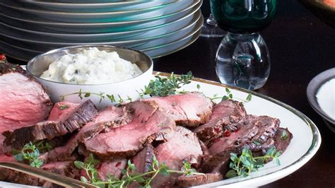 Whole, roasted beef tenderloin glazed in a classic kentucky sauce made with worcestershire, major grey's chutney, ketchup, a.1., and heinz chili sauce. Roast Beef Tenderloin with Horseradish Cream Recipe | Bon Appetit