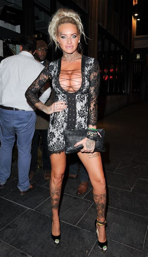 Jemma Lucy As Youve Never Seen Her Before The Bleached Hair And Tattoos Daily Record
