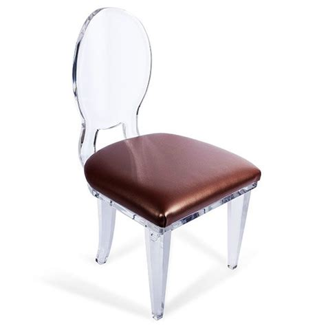 acrylic desk chair with cushion more acrylic furniture finds for a sleek style