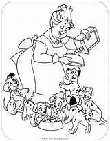 Coloring Nanny Puppies Pongo Dalmatians 101 Printable Disneyclips Dipper Freckles Treats Giving Funstuff sketch template