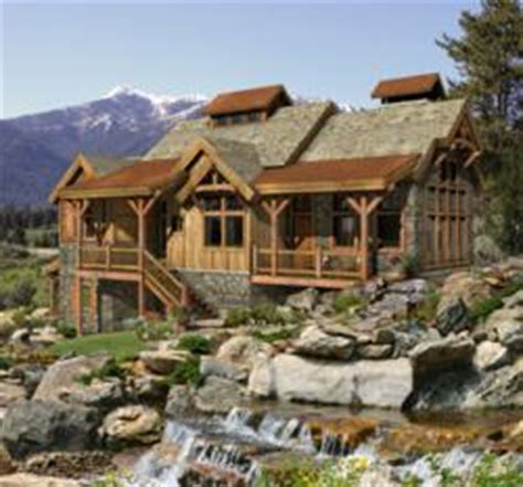 timber frame home plan marries  west style  twenty  century living