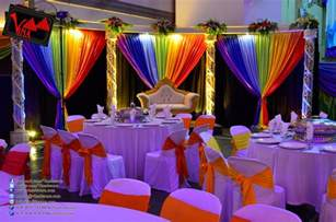 wedding decorations vina canopy decor rainbow color concept wedding dinner decoration at srjk c batu 14