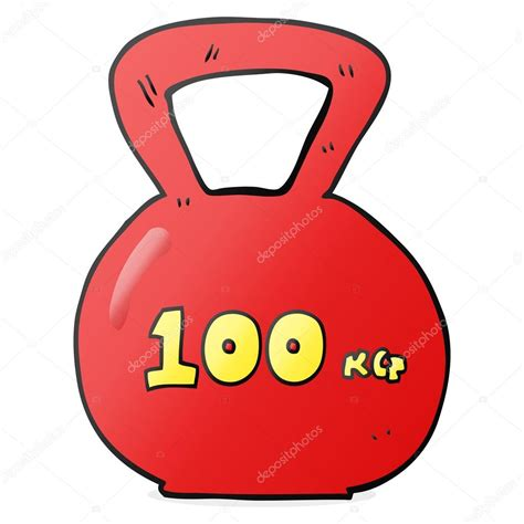 weight cartoon 100kg kettle bell illustration 10kg vector lineartestpilot depositphotos