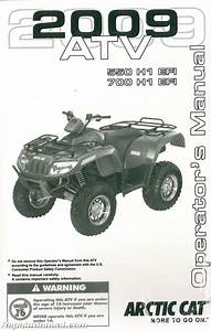 2009 Arctic Cat 550 H1 Efi 700 H1 Efi Atv Owners Manual
