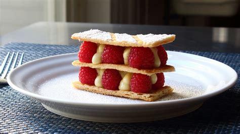 feuille cuisine mille feuille vanilla custard raspberry napoleon
