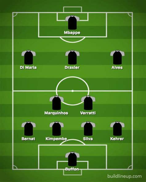Psg Vs Man United Line Up - Manchester United vs PSG ...