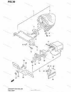 Suzuki Motorcycle 2001 Oem Parts Diagram For Tail Lamp