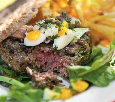 tartare cuisine beef tartare burger recipe food republic