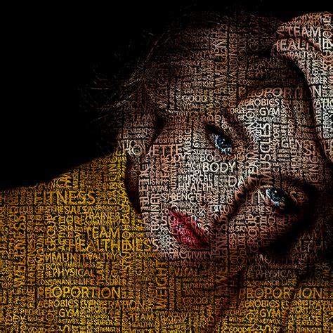 typography portrait photoshop action by irmuundesign graphicriver