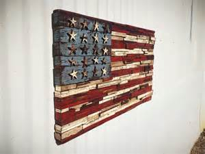 American Flag Made From Wood