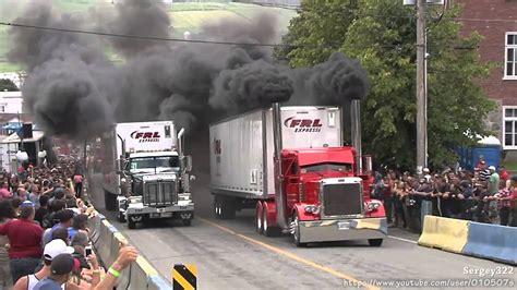 Amazing Semi Trucks Drag Racing.