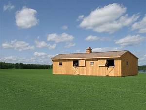12 x 32 prefab horse barn amish sheds from bob foote With amish prefab barns