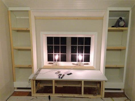 building a built in bookcase diy how to build a window seat and built in bookcases