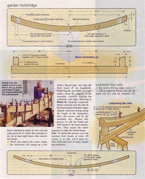 garden footbridge plans woodarchivist