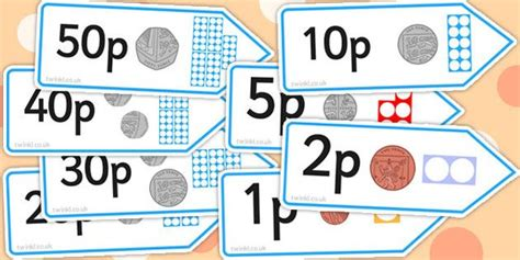 * New * Number Shape Price Labels With Coins  Early Years Maths  Pinterest  Maths, Numicon