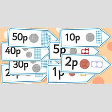 * New * Number Shape Price Labels With Coins  Math Ten Frame Numicon  Teaching Money