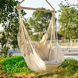 hanging rope hammock chair swing seat large brazilian