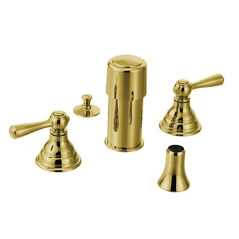 Moen Kingsley Faucet Polished Brass by Shop Moen Kingsley Polished Brass Vertical Spray Bidet