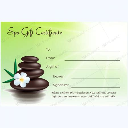 spa gift certificate templates  spa  saloon designs