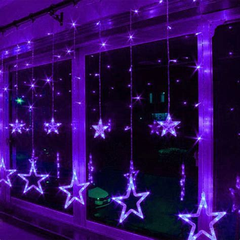 3m waterproof drop led star curtain string light christmas