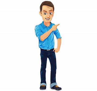 Male Character Vector Shirt Jeans Characters Clipart
