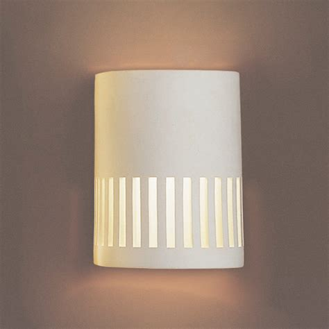 7 quot cylinder sconce w rectangular cut outs contemporary