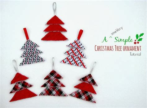 sewvery a sewvery simple christmas tree ornament tutorial
