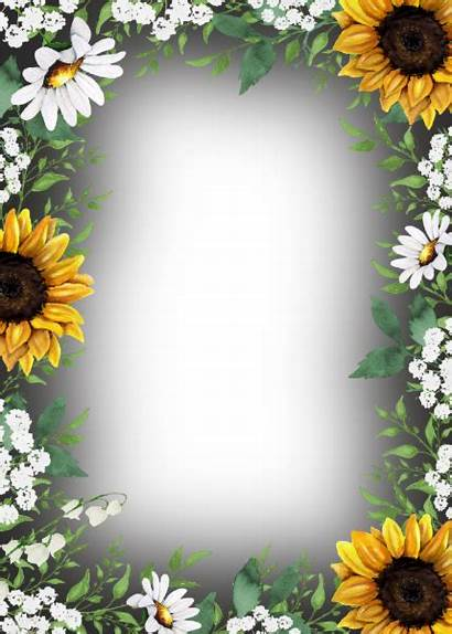 Background Country Sunflowers Sunflower Rustic Invitation Shower