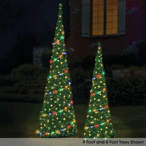 christmas pop up tree the 6 prelit pop up tinsel tree hammacher schlemmer 5013